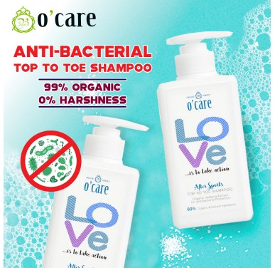 Anti-Bacterial Protection! O'Care Love After Sports Top To Toe Shampoo - 500ml